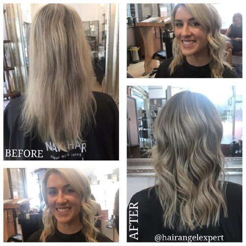 Before After photos Sydney Balmain Rozelle Glebe Drummoyne good top best hair salons studios hairdressers client reviews testimonials results Hair Angel blonde hair balayage specialists precision cutting bridal styling colouring.