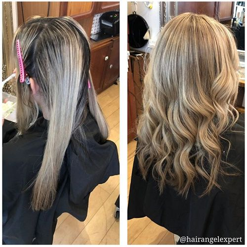 Before After photos Sydney Balmain Rozelle Glebe Drummoyne good top best hair salons studios hairdressers client reviews testimonials results Hair Angel blonde hair balayage specialists precision cutting bridal styling colouring