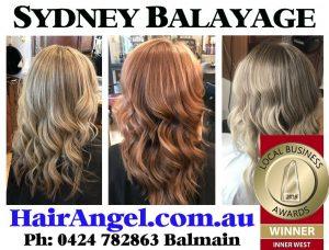 Sydney's Best Balayage Hairdresser Hair Angel salon in Balmain studio specialises precision haircuts services for women's hair colouring colour corrections Glebe Ultimo Birchgrove Drummoyne Strathfield Rozelle