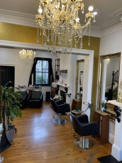 Photo inside Hair Angel women's hairdressing salon in Balmain inner west Sydney 2021 - best hairdressers top blonde hair colourists stylists specialists in balayage highlights color corrections precision haircuts bridal styling